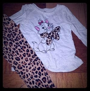 Toddler leopard print outfit